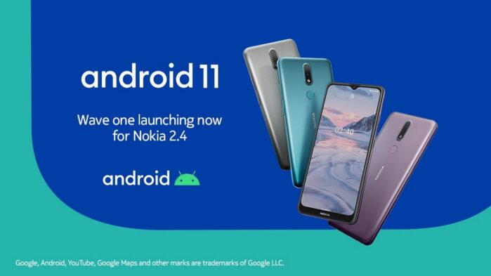 Nokia 2.4 aggiornamento Android 11