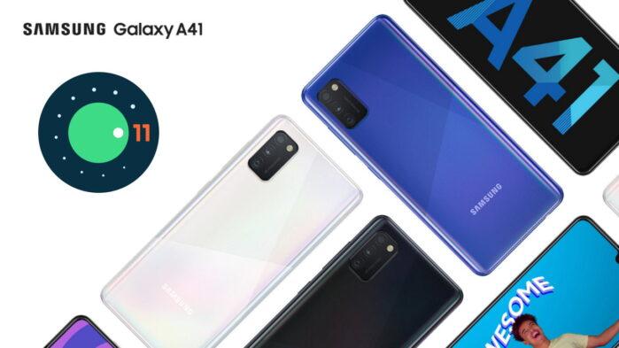 Samsung Galaxy A41 aggiornamento Android 11 con ONE UI 3.1 in Europa