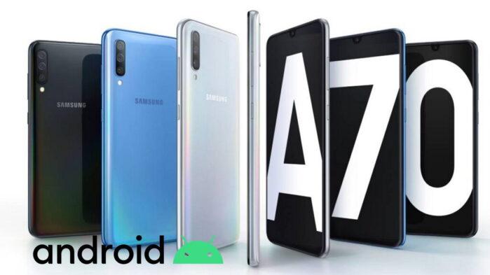 Samsung Galaxy A70 l'aggiornamento patch di aprile 2021 è iniziato in Europa