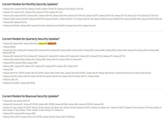 Samsung-Galaxy-S9-Update-Schedule