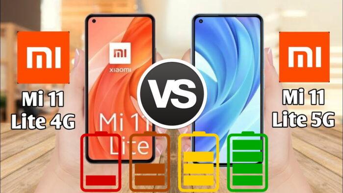 Xiaomi MI 11 Lite 4G vs Xiaomi MI 11 Lite 5G autonomia batteria