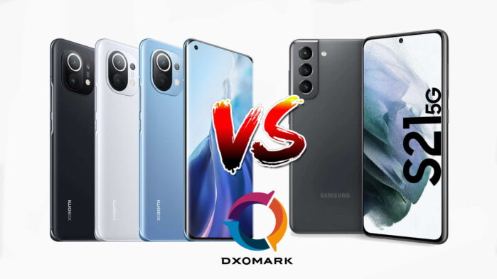 Xiaomi MI 11 Vs Galaxy S21 (Plus) DxOMark