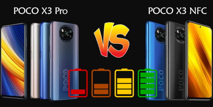 Xiaomi Poco X3 Pro vs Poco X3 NFC autonomia batteria