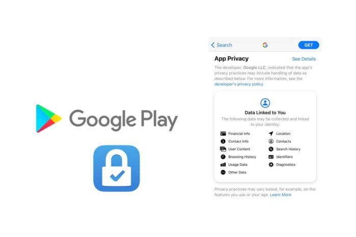 Google Play Store sezione sicurezza per tutela della privacy su come le app utilizzano i dati degli utenti