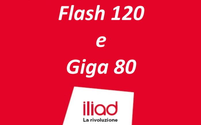 Iliad Flash 120 e Giga 80 nuove offerte mobile