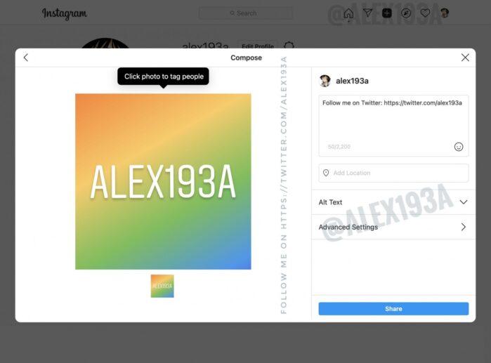 Instagram Desktop screenshot 1