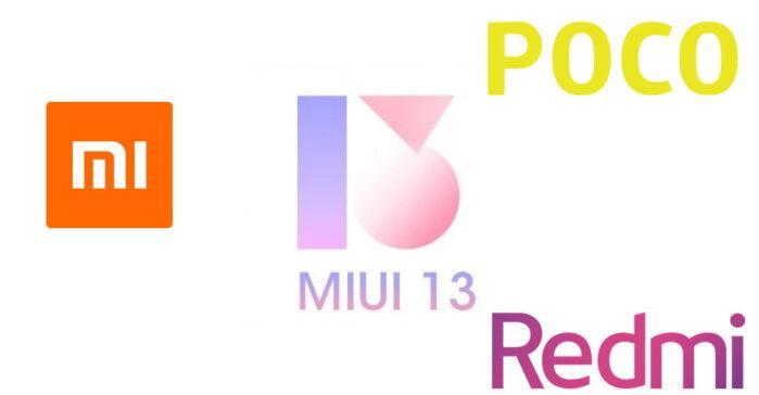 MIUI 13 lista smartphone Poco Xiaomi Redmi aggiornabili