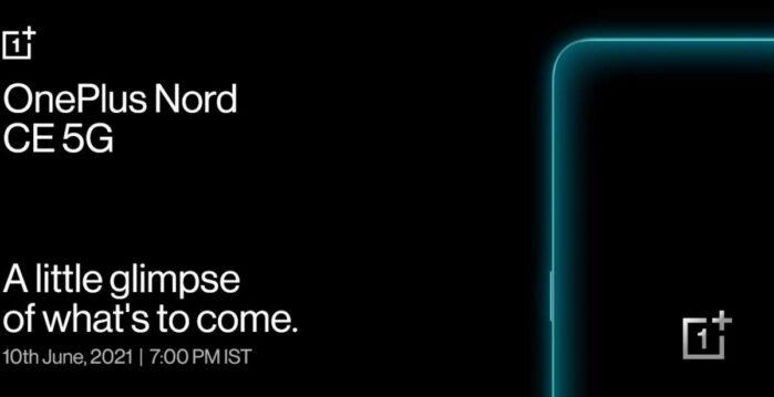 OnePlus Nord CE 5G data annuncio