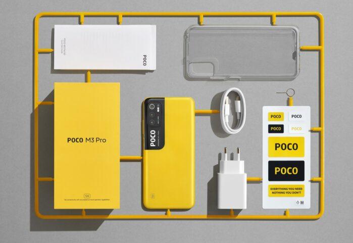 Poco M3 Pro 5G confezione di vendita