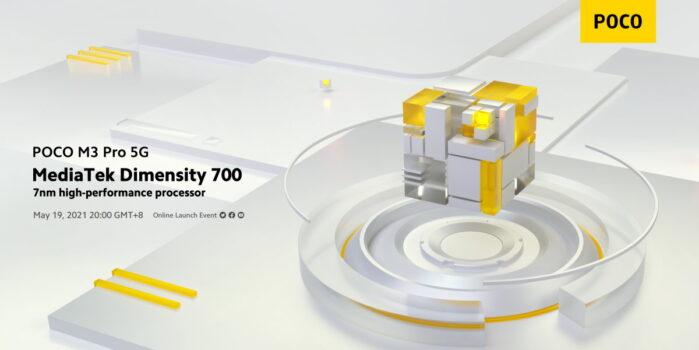 Poco M3 Pro 5G in arrivo in data 19 maggio 2021