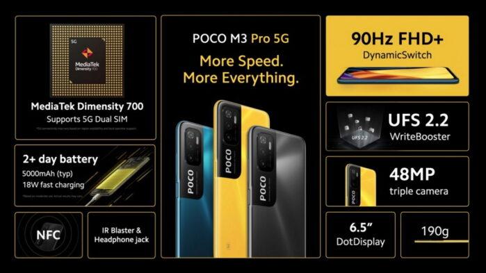 Poco M3 Pro 5G ufficiale prezzo e caratteristiche generali