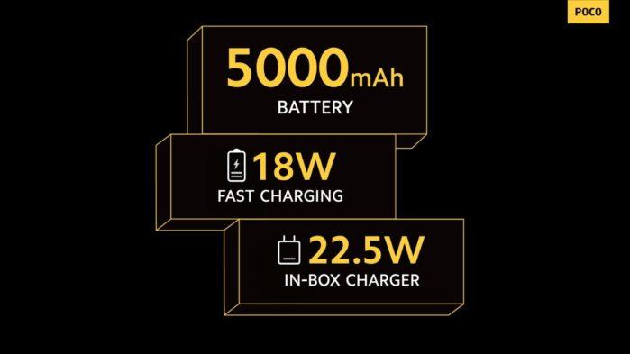Poco m3 Pro 5G batteria
