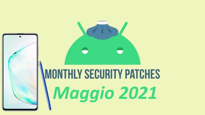 Samsung Galaxy Note 10 Lite patch maggio 2021