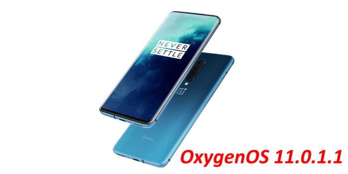 Serie OnePlus 7 e 7T aggiornamento OxygenOS 11.0.1.1