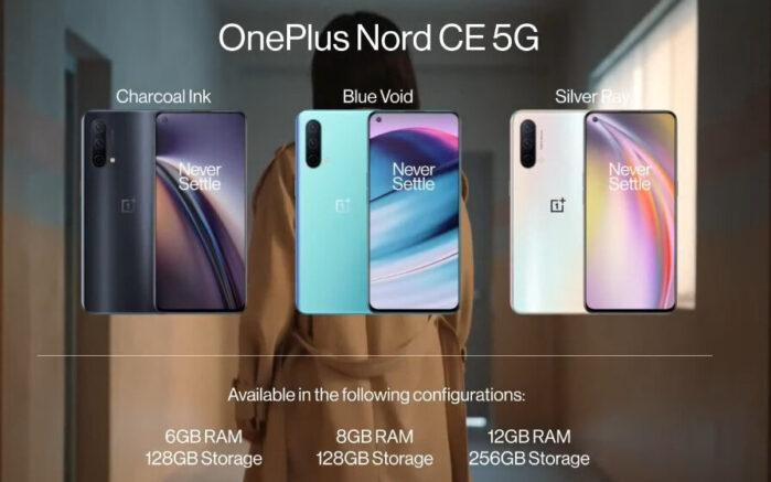 OnePlus Nord CE memoria e colori