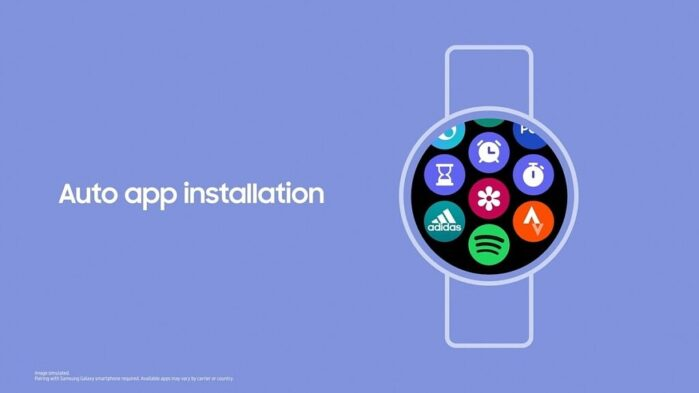 Samsung ONE UI Watch installazione applicazioni automatica