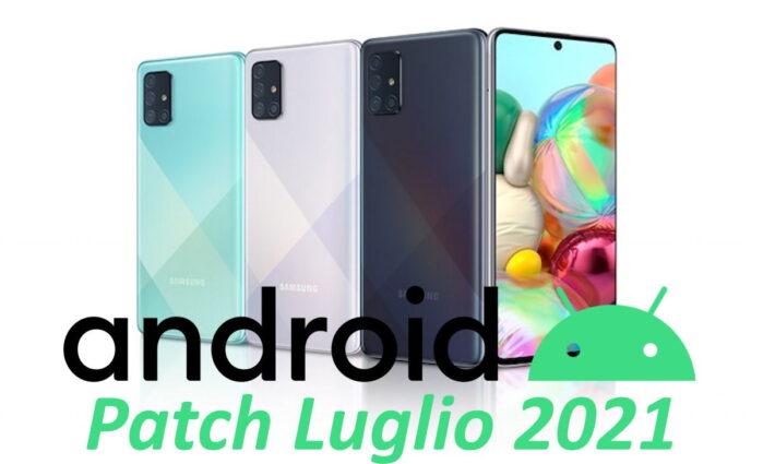 Galaxy A71 aggiornamento patch luglio 2021