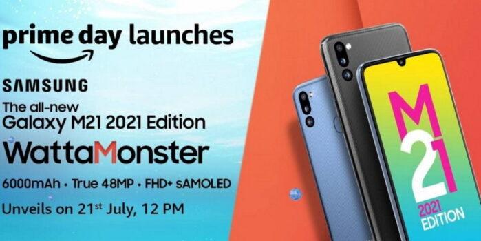 Galaxy M21 2021 Edition pubblicità data annuncio