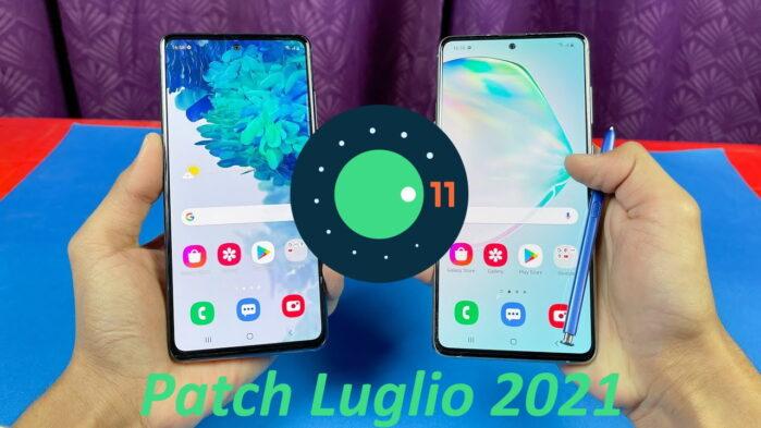 Galaxy Note 10 Lite e Galaxy S20 FE aggiornamento patch luglio 2021
