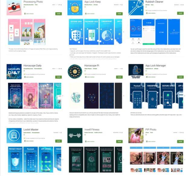 Google Play Store 9 applicazioni malware dati accesso Facebook