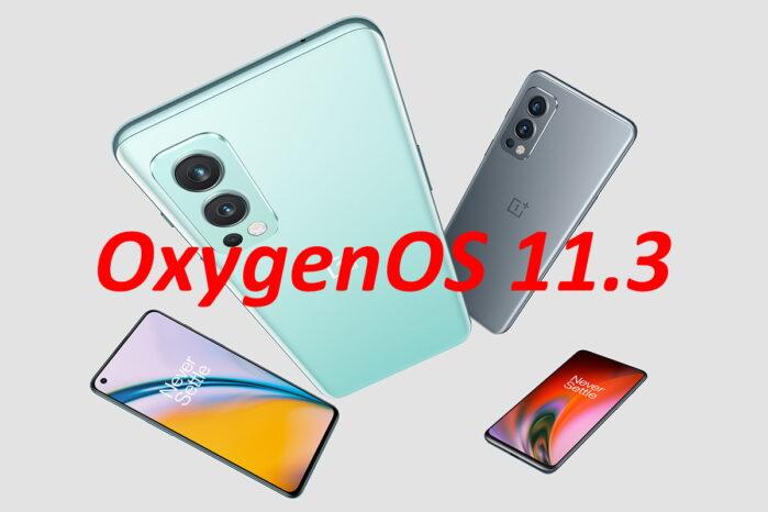 OnePlus Nord 2 aggiornamento OxygenOS 11.3