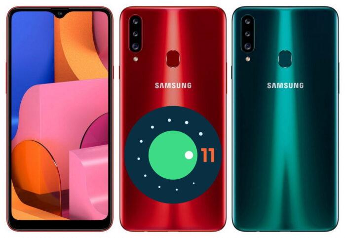 Samsung Galaxy A20s aggiornamento Android 11