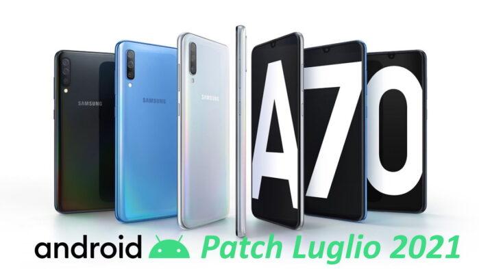 Samsung Galaxy A70 aggiornamento patch luglio 2021