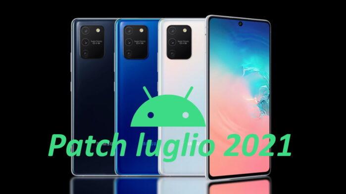 Samsung Galaxy S10 Lite aggiornamento patch luglio 2021