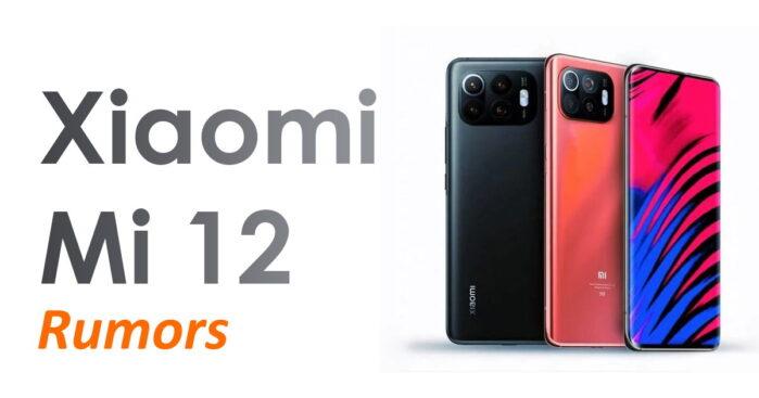 Xiaomi MI 12 rumors