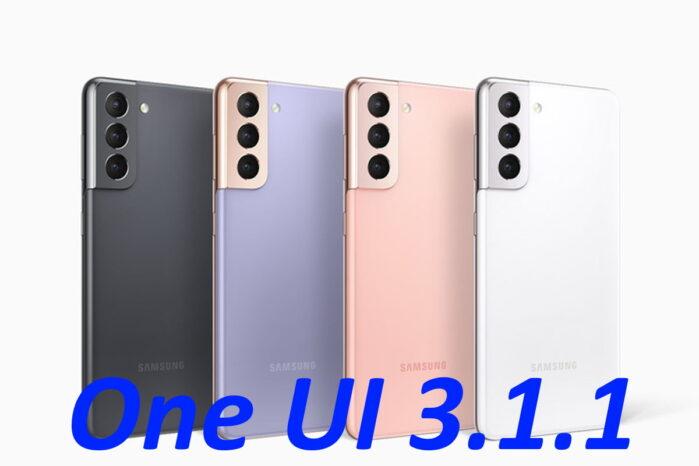 Gamma Samsung Galaxy S21 aggiornamento ONE UI 3.1.1