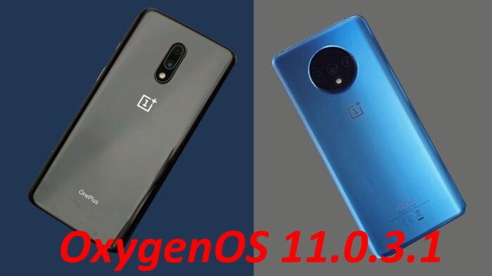 Oneplus 7 e 7t aggiornamento OxygenOS 11.0.3.1