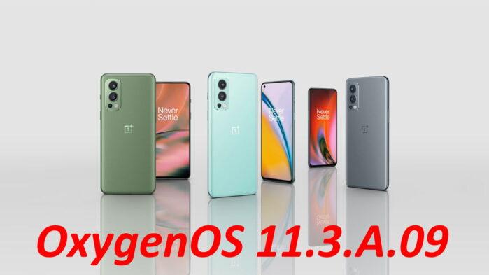 Oneplus nord 2 aggiornamento OxygenOS 11.3.A.09