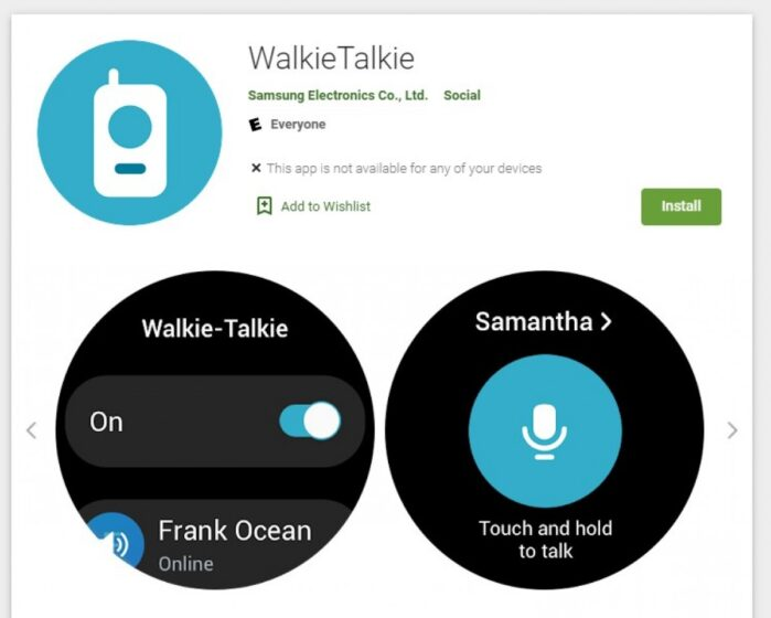 Samsung Galaxy Watch 4 Walkie Talkie