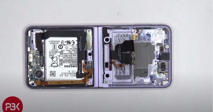 Samsung Galaxy Z Flip 3 smontato in un video