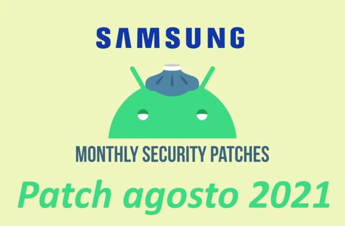 Samsung patch di sicurezza android agosto 2021