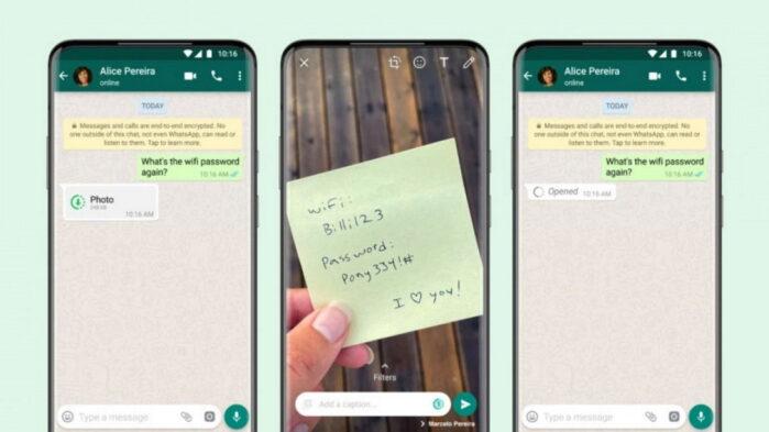 WhatsApp Funzione Visualizza una volta