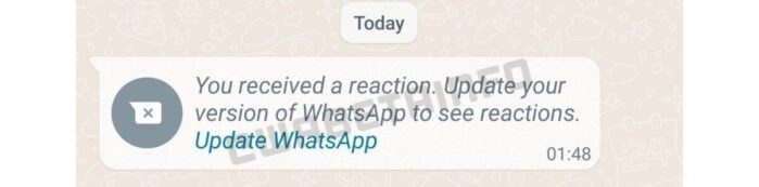 WhatsApp Reazioni