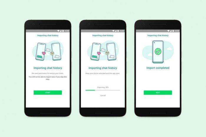 WhatsApp trasferimento dati da iPhone a Samsung Galaxy con Android