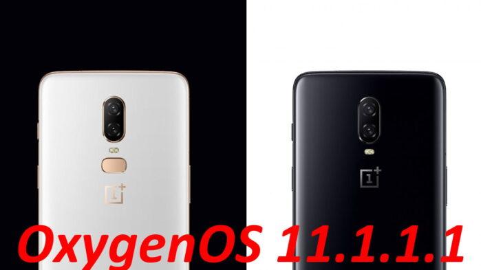 OnePlus 6 e 6T aggiornamento OxygenOS 11.1.1.1