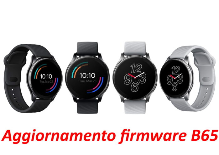 OnePlus Watch aggiornamento firmware B65 novità