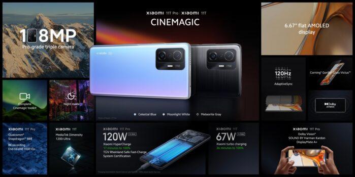 Xiaomi 11T e 11T Pro ufficiali