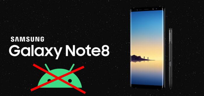 Galaxy Note 8 fine aggiornamenti Android
